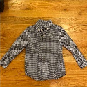 Vineyard Vines Toddler whale shirt blue gingham 3t